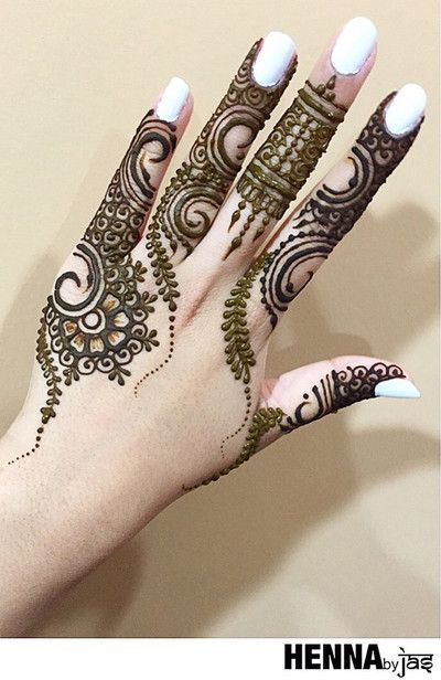 unique mehndi designs for your fingertips also the best  images on pinterest henna rh