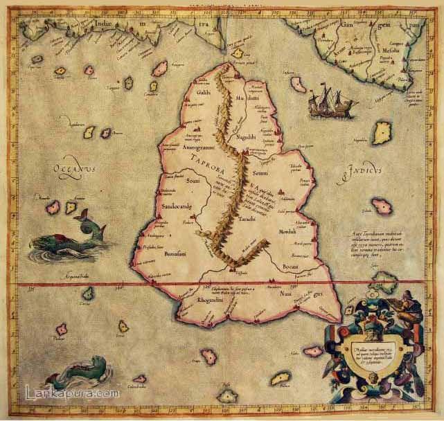 1st Century World Map.Antique Maps Of Sri Lanka Claudius Ptolemy S 1st Century Map Of