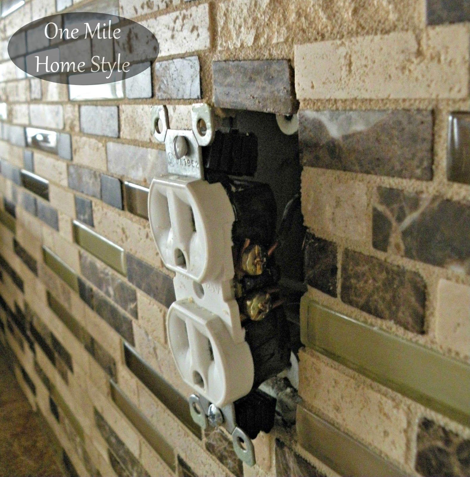 How To Adjust Outlets After Tiling Backsplash Pinterest Tiles Wiring In Bathroom Adjusting Electrical