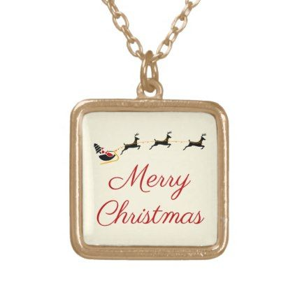 The Christmas Theme I Gold Plated Necklace Christmas themes
