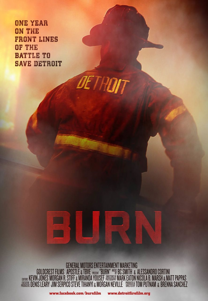 BURN is a feature documentary that takes a look (from the firefighter's perspective) at the Detroit fire department's battle to save their city, despite facing serious economic challenges.