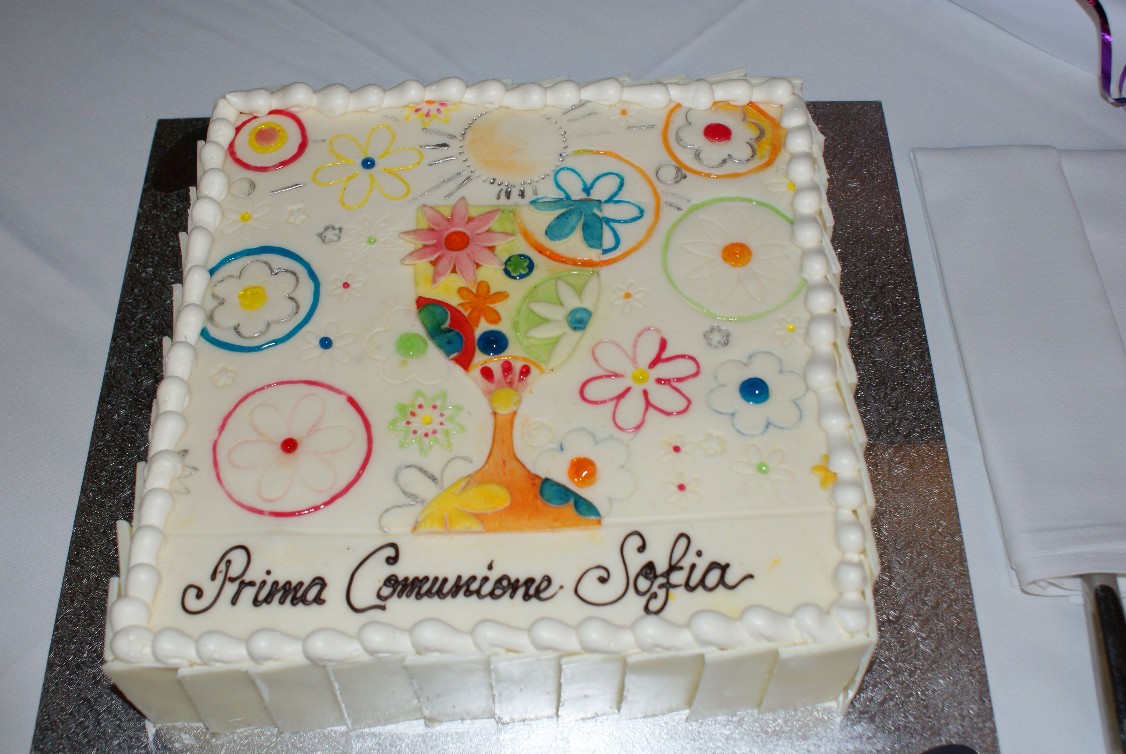 First Communion Cake Inspired By Greeting Card Cake By Brunetti In