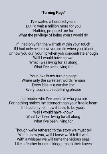 Last night while making love to you lyrics