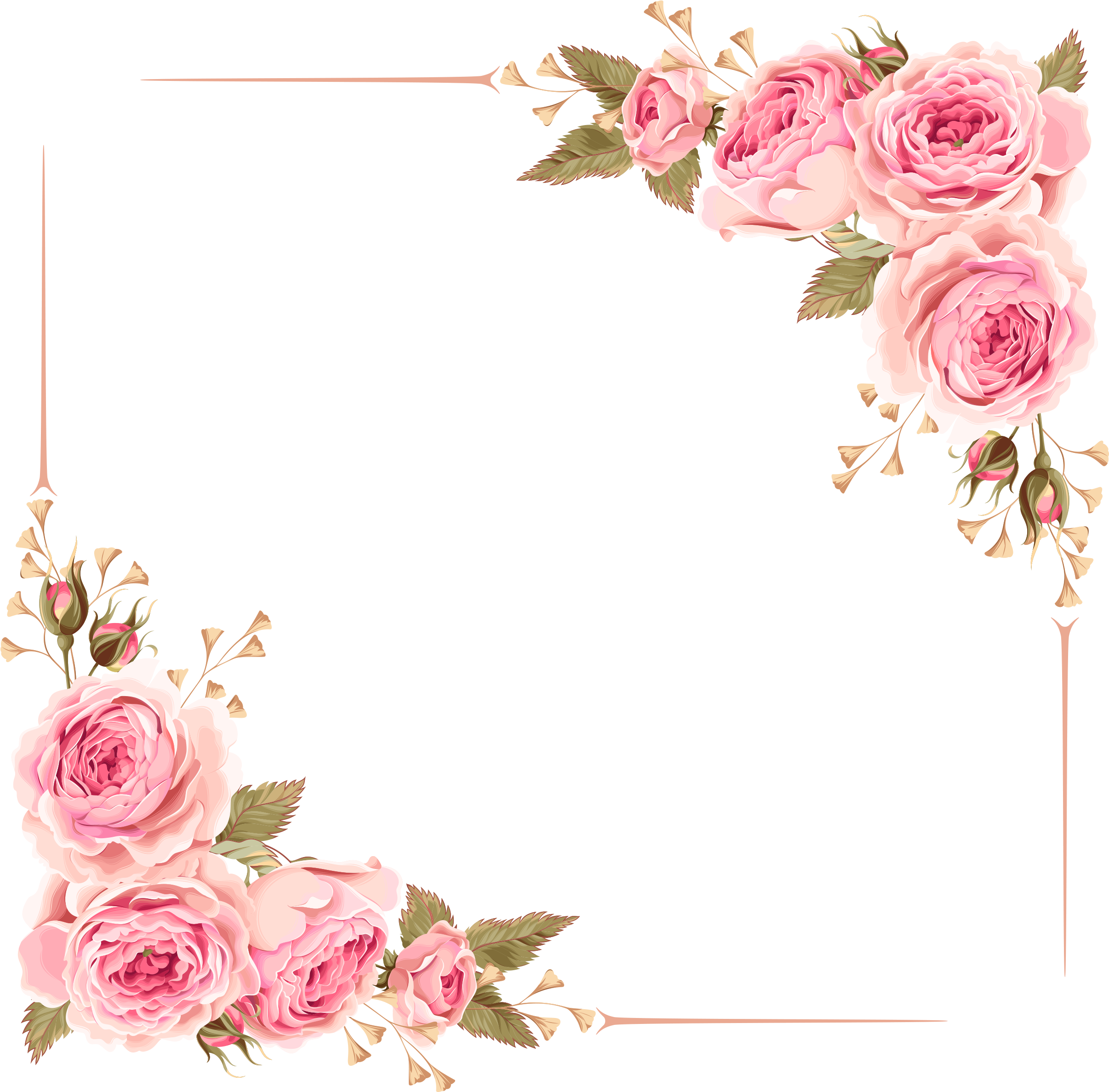 Rose Border Wedding Invitation Flower Borders Png Download Transparent Png Image In 2020 Floral Border Design Clip Art Borders Rose Frame