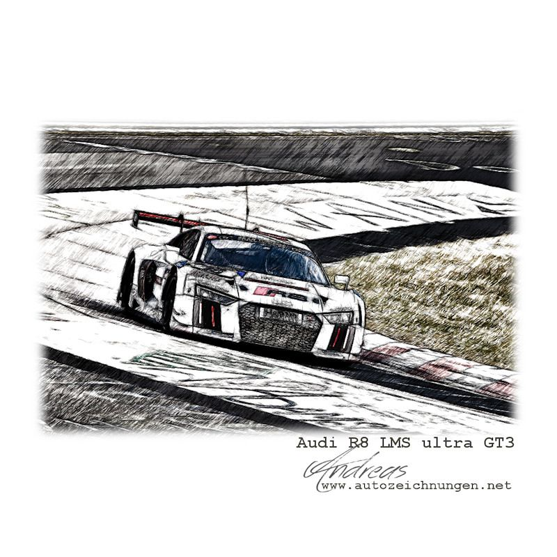VLN Langstreckenmeisterschaft Nürburgring - Audi R8 LMS ultra GT3 by ...
