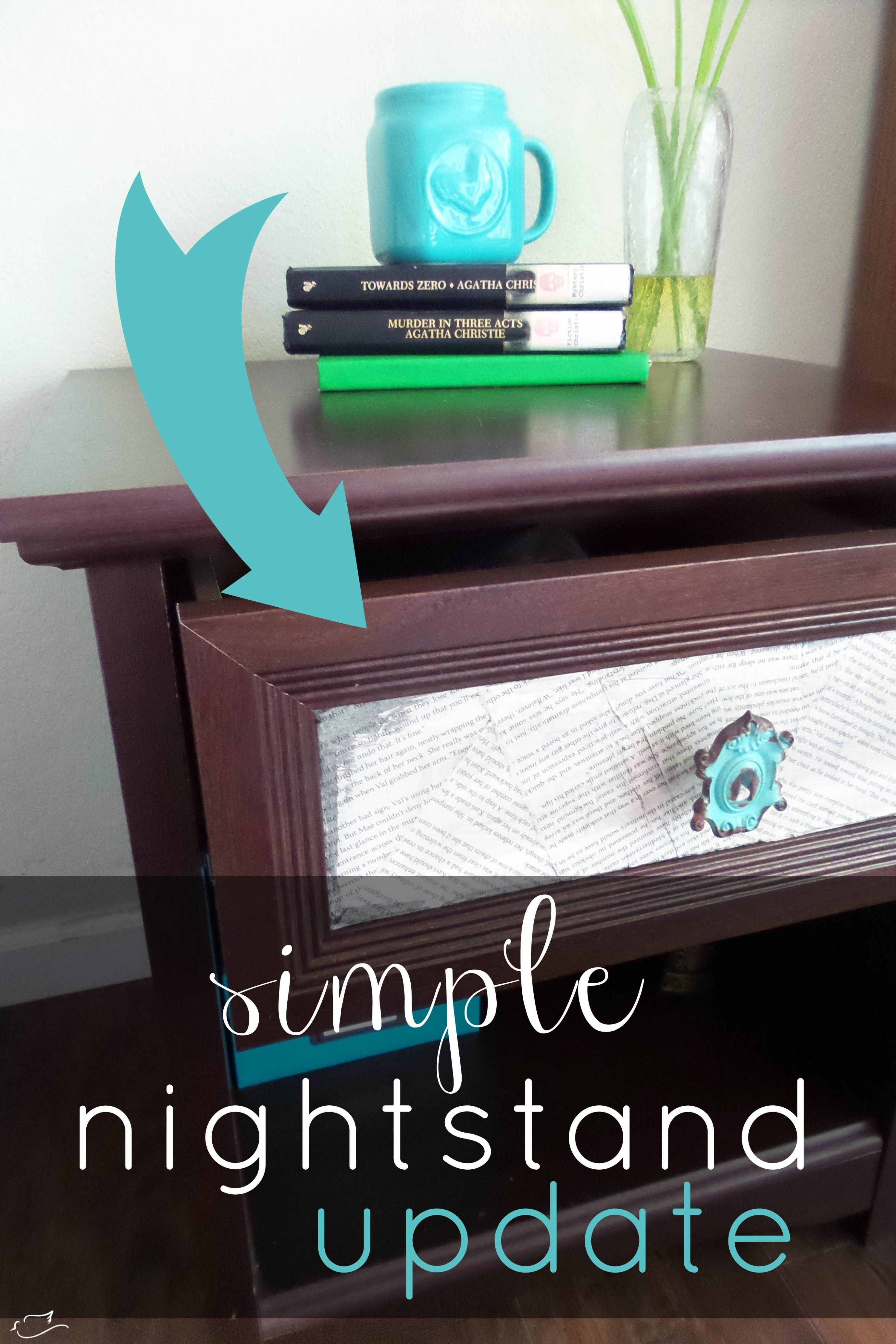 Make a big change to cheap nightstands with this simple