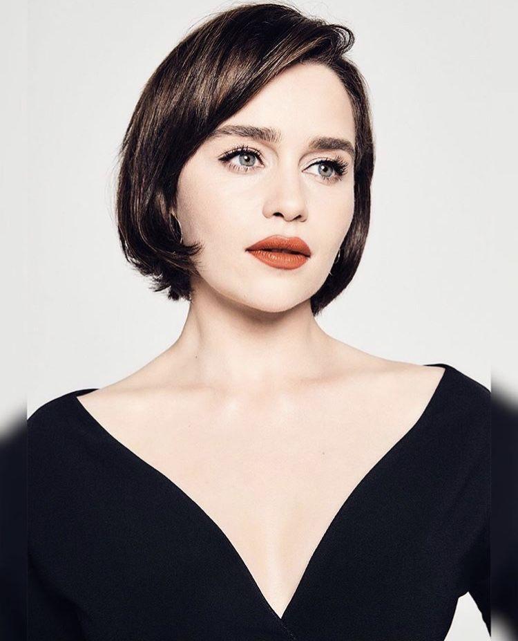Pin by Leo on Emilia Clarke | Emilia clarke, Short hair ...