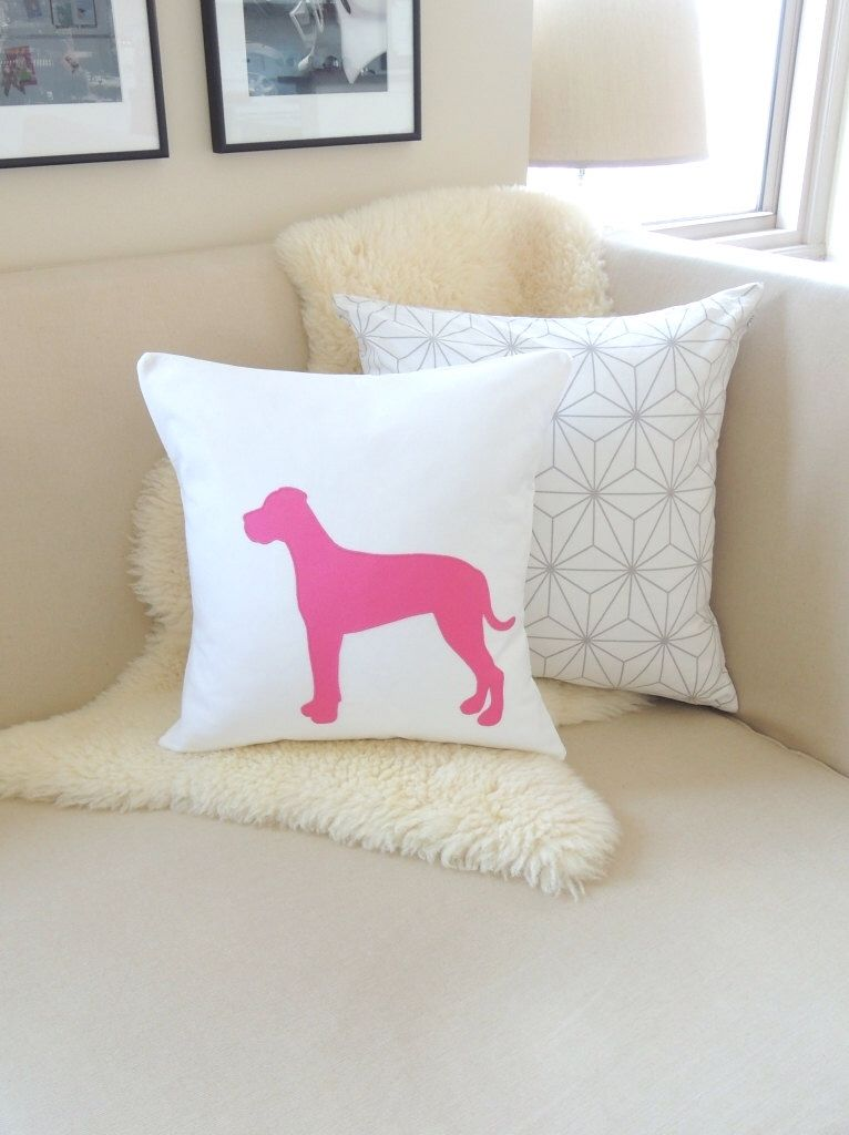 great dane pillow cover customize colors natural or cropped ears