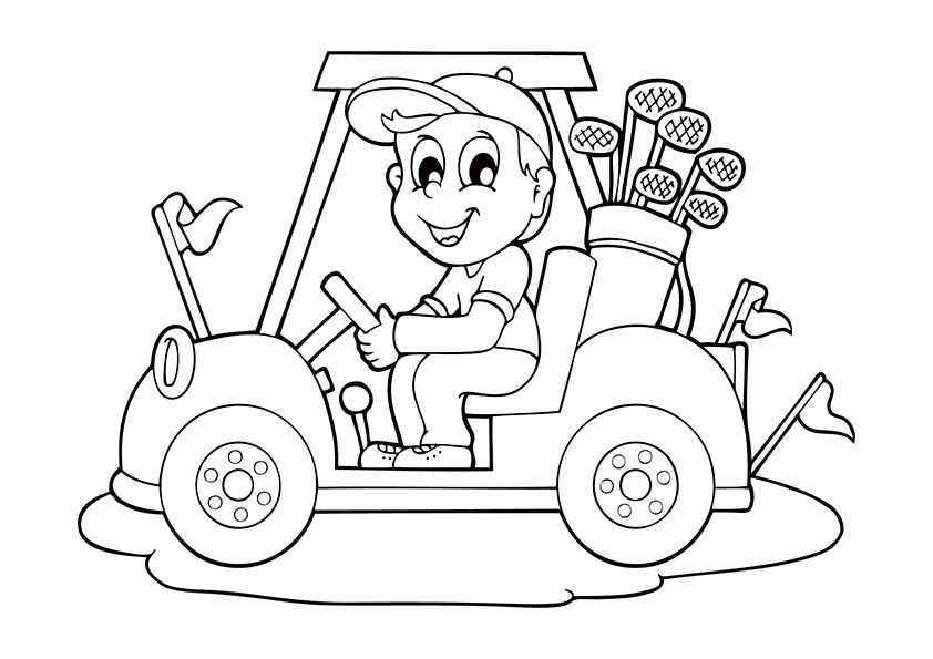 Cool Car Golf Cars Coloring Pages Coloring Pages Coloring