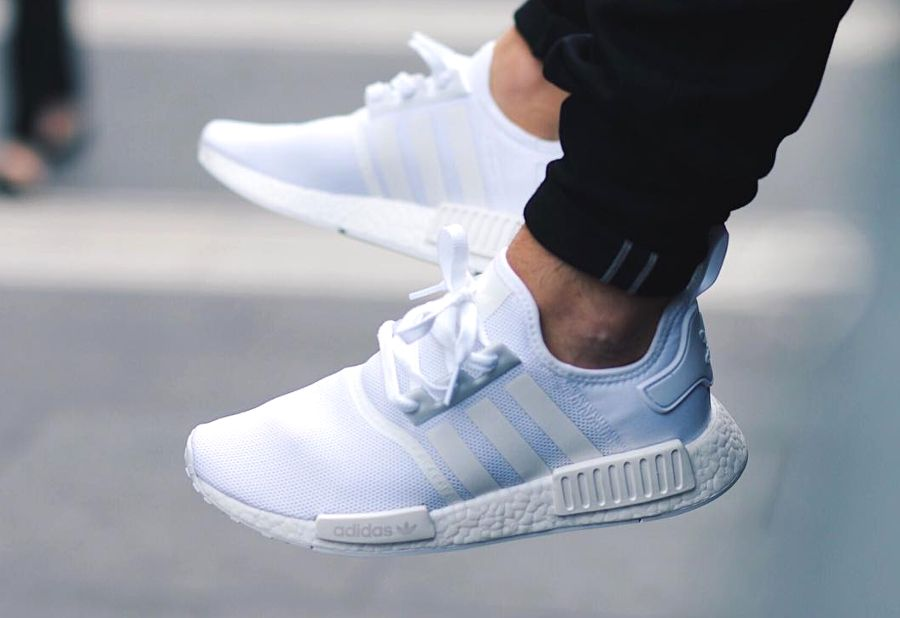 fa8d04f347538 Adidas NMD R1 Runner Boost Blanche  Triple White    Shoes men ...