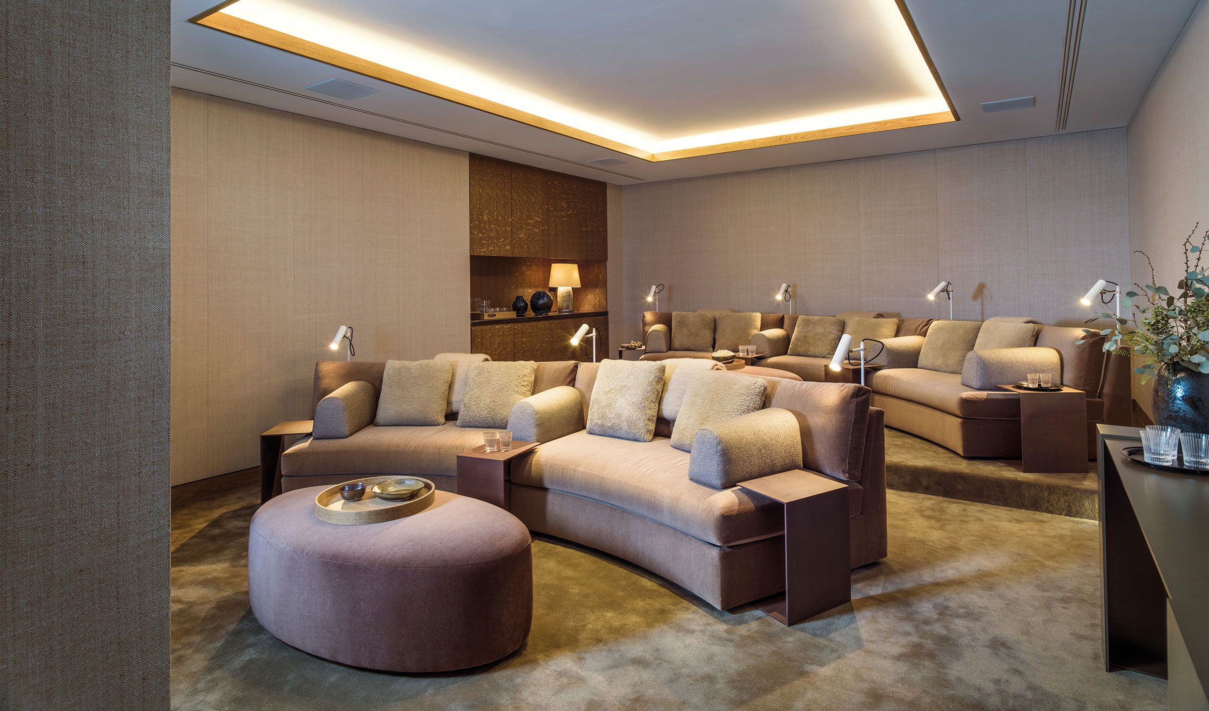 Residents Cinema Room Featuring 98 Wide 4K Ultra High Definition Screen