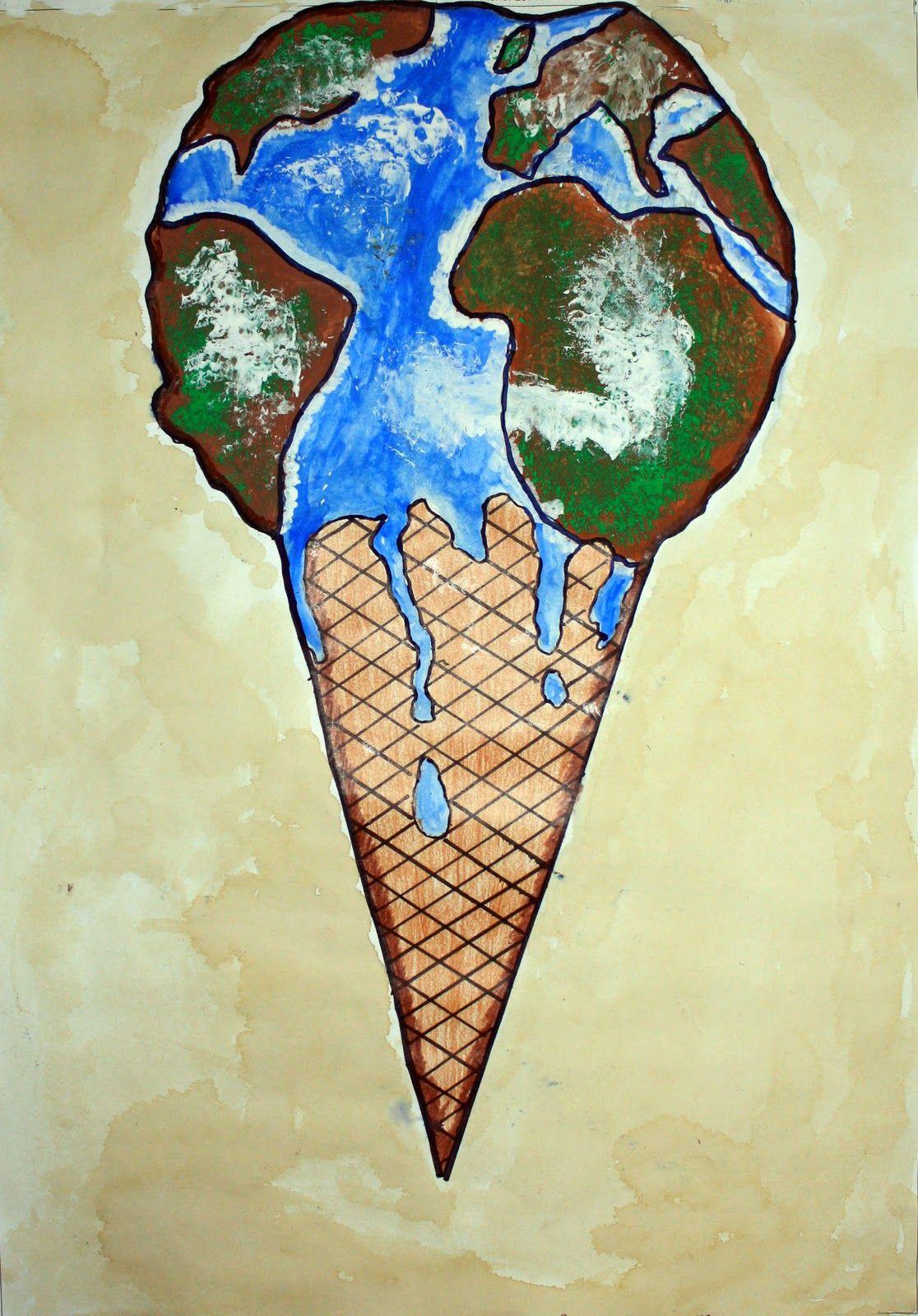 Metáfora visual sobre un tema importante; calentamiento global ...