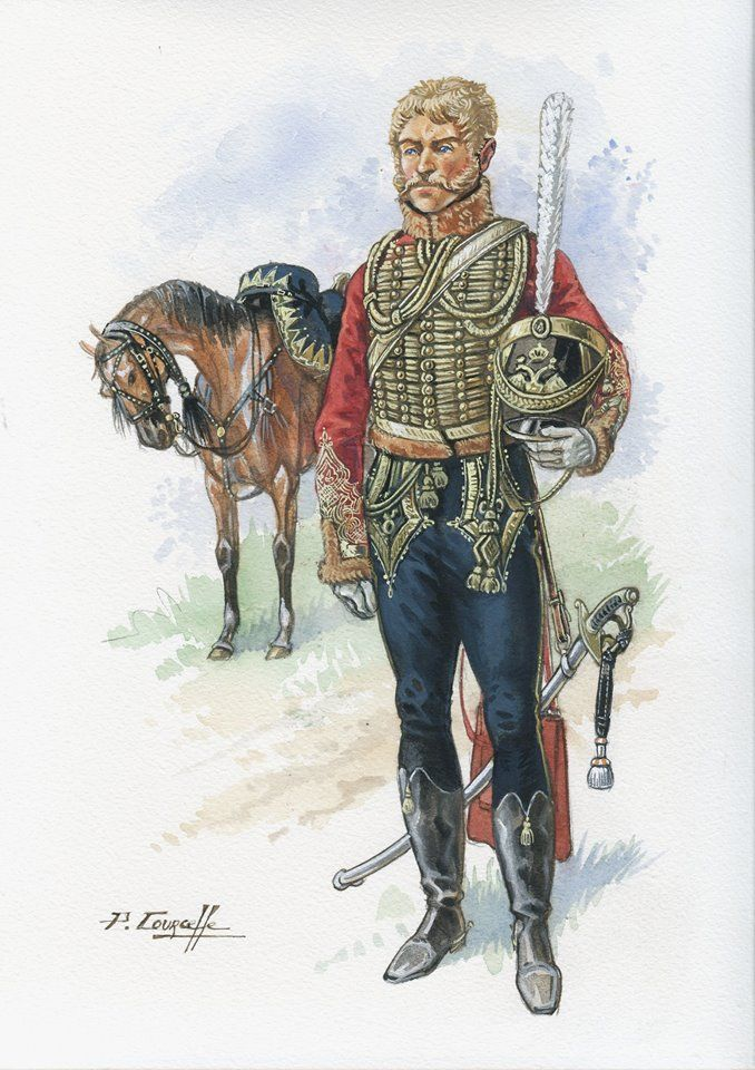 Russian Senior Guard Hussar Officer
