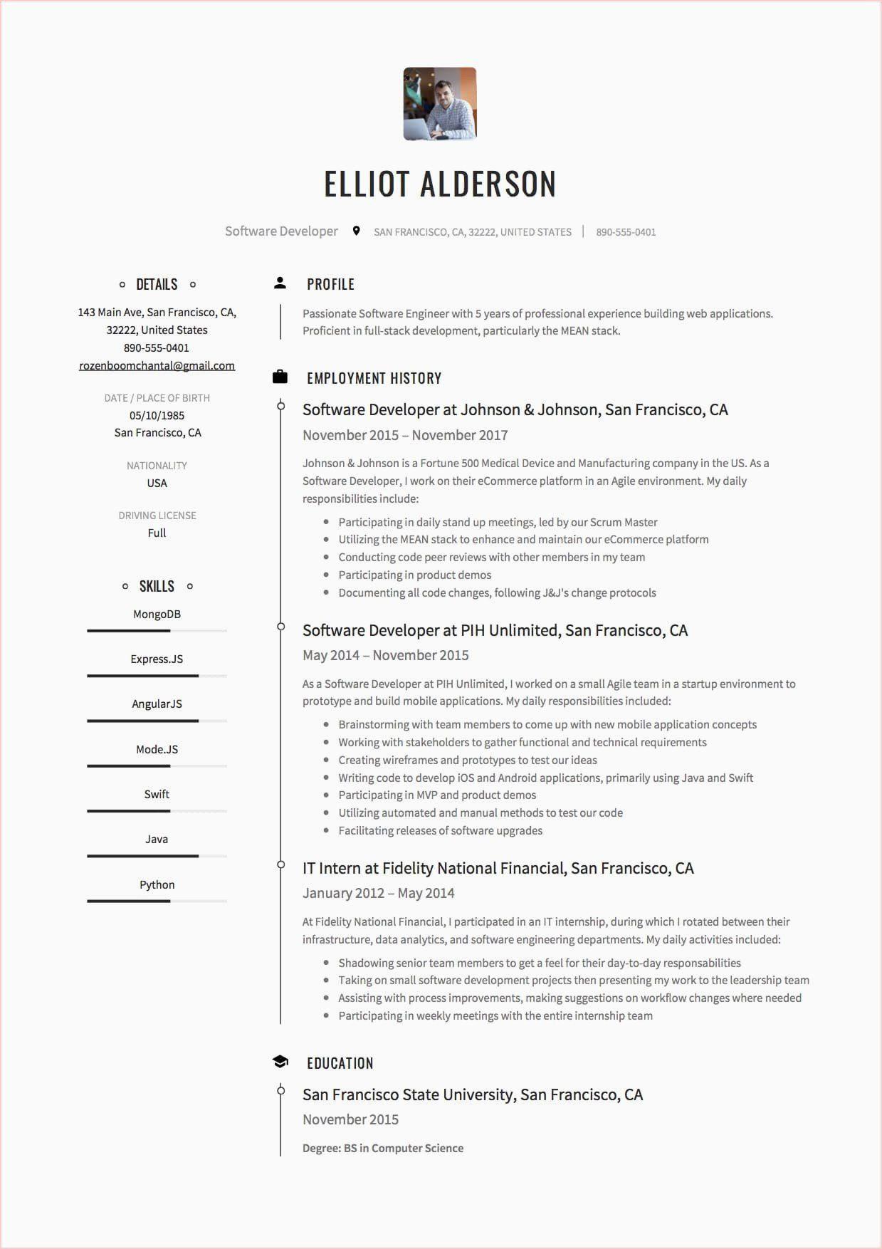 Full stack developer resume angularjs developer resume in