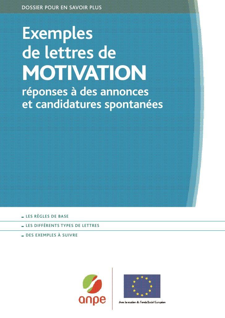 Exemples De Lettres De Motivation Job Coaching Job Cv Job Resume