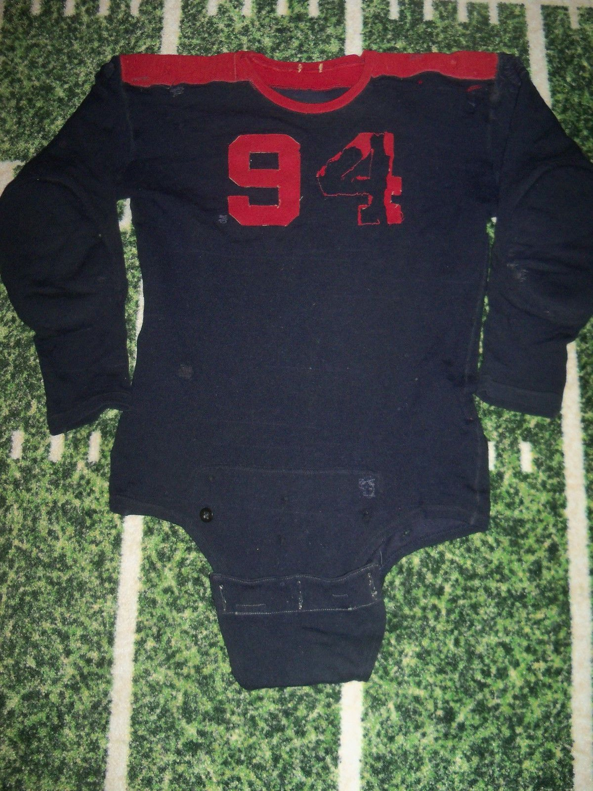 d250b9d60 1920's game worn football jersey. The jersey is made of a wool blend and  really