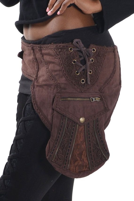 fanny pack hip pack STEAMPUNK utility belt Ccbedm waist pack junk Gypsy festival clothing Pocket BELT
