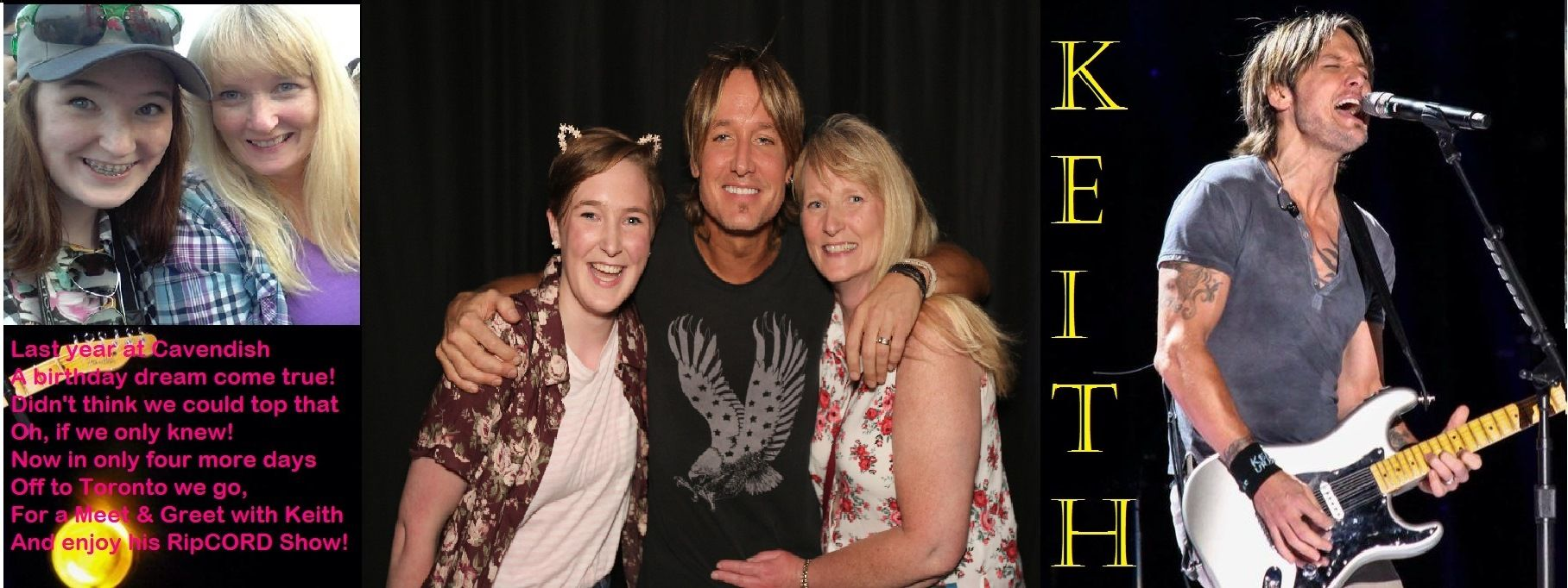 Winning a meet greet with keithurban dreamcometrue keith urban winning a meet greet m4hsunfo