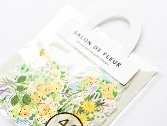 Photo of Flower bouquet stickers -SALON DE FLEUR- / yellow flower bouquet by mind wave