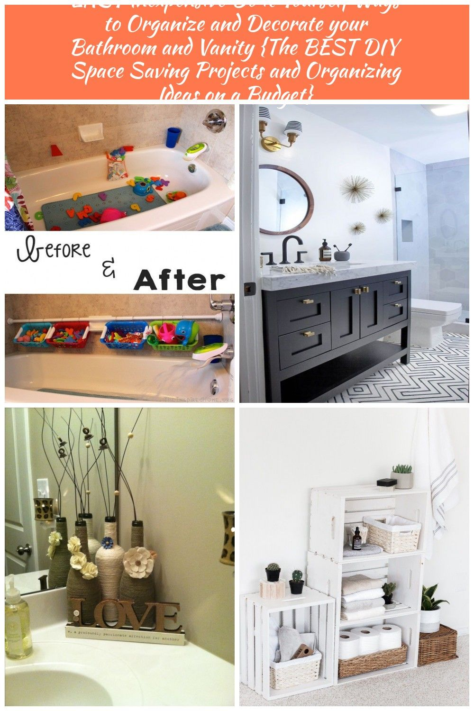 Diy Bathroom Organization Ideas Easy And Cheap Bathtub Toy Organization Idea And Tutorial Via T Diy Space Saving Diy Bathroom Decor Bathroom Organization Diy