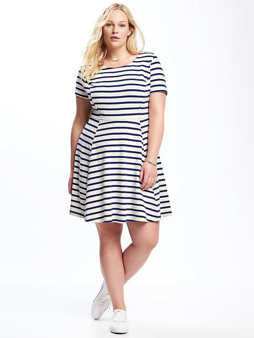 Striped Plus-Size Fit & Flare Dress - Old Navy | Fashion ...