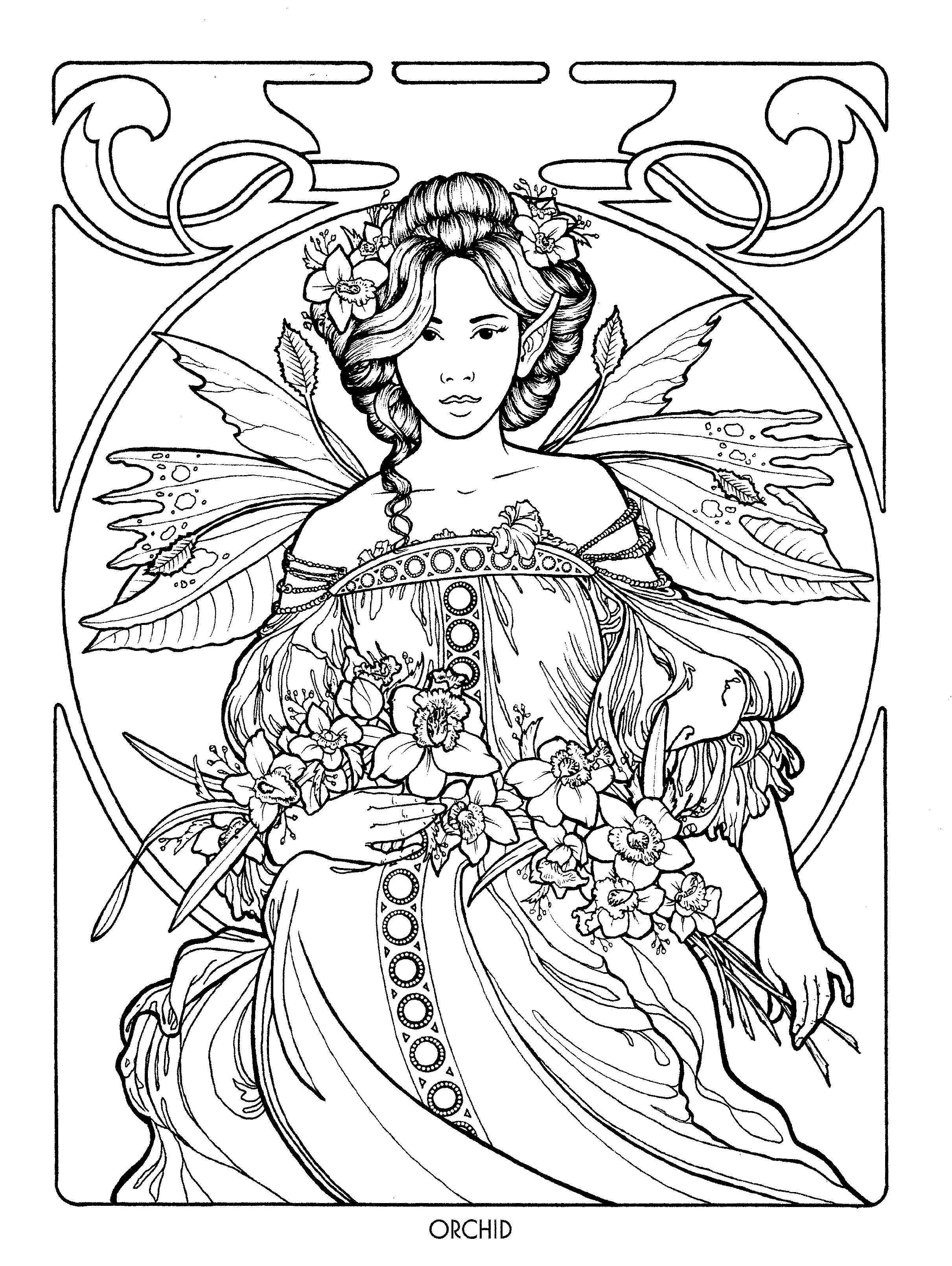 Fairy 25 (With images) | Mermaid coloring pages, Fairy ...