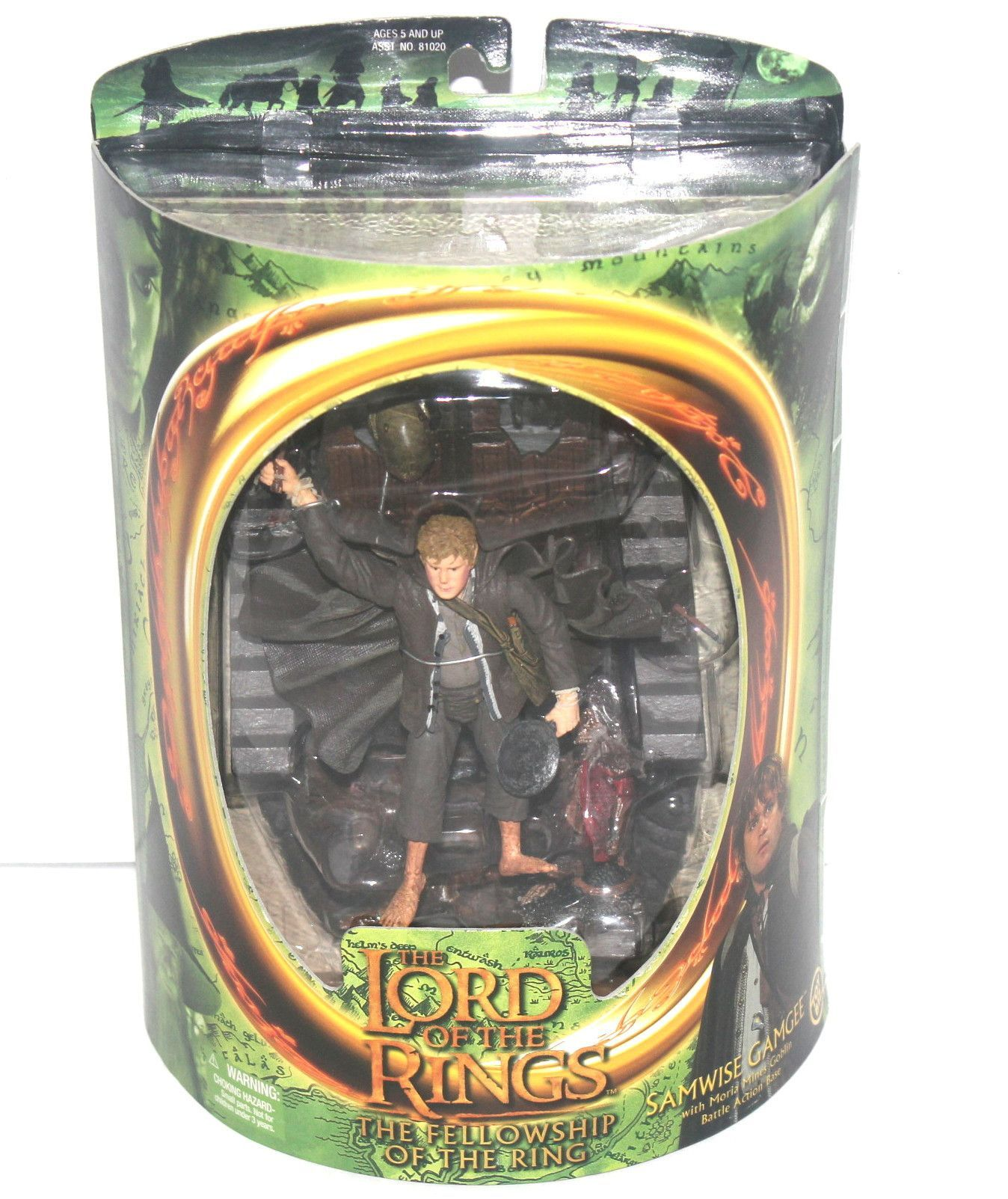 WOW! MIB 2001 Toy Biz LORD OF THE RINGS Fellowship of The Ring STRIDER ARAGORN