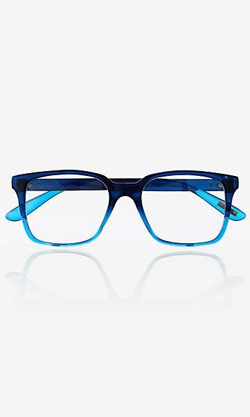 c2ff5e0a2a366 blue ombre frame clear lens glasses Óculos Grau