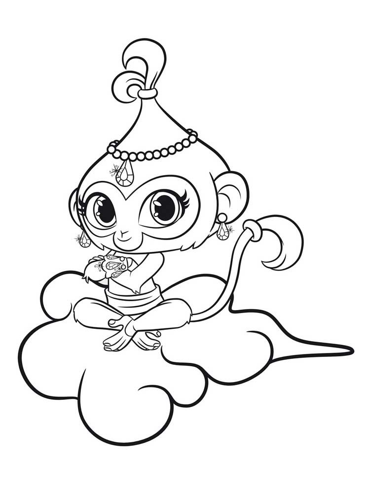 Kleurplaten Shimmer And Shine.Shimmer And Shine Coloring Pages Movies And Tv Show Coloring Pages