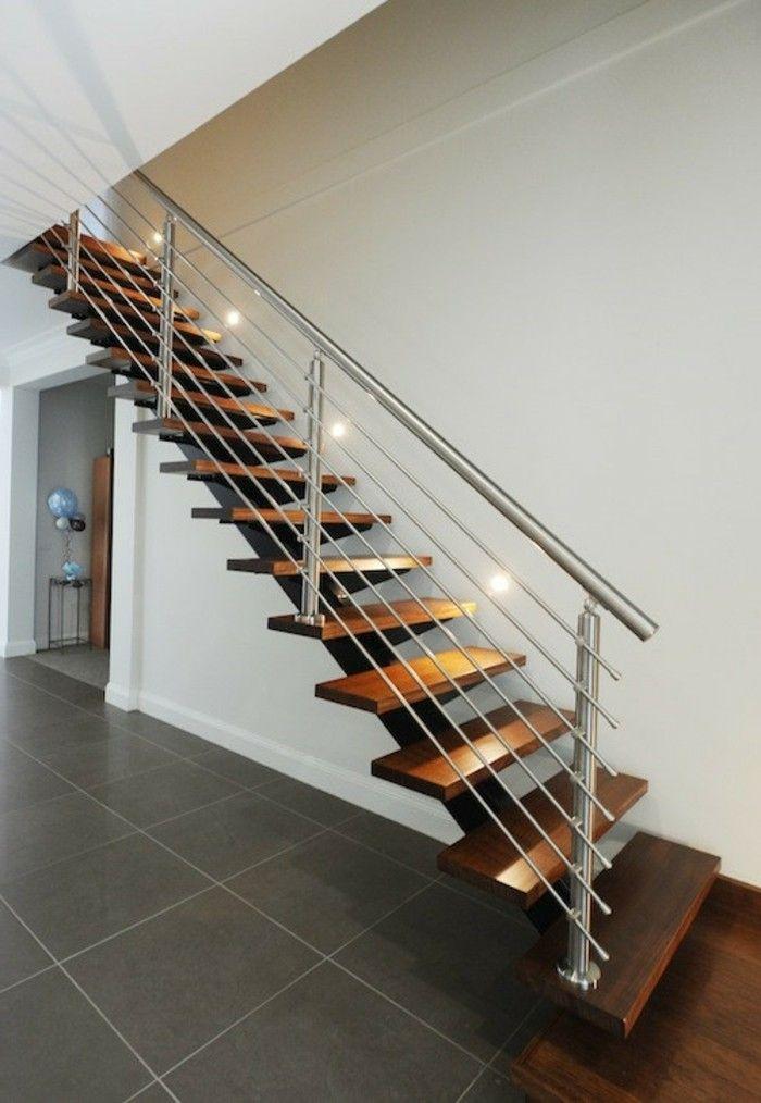 Staircase Design Wood Steel Modern Interior Design (
