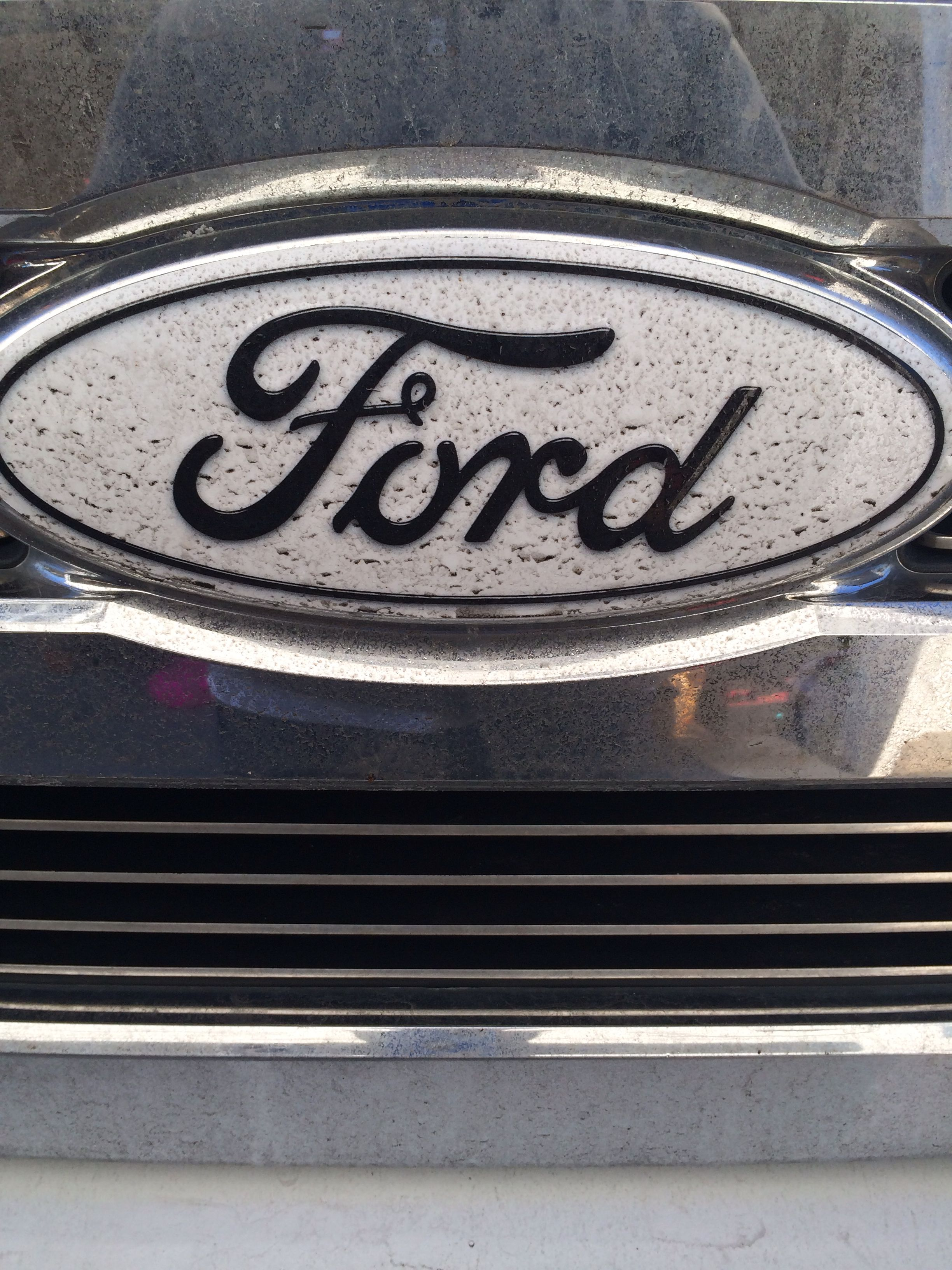 White Ford Decal Front Ford Trucks Truck Accessories Ford Tractors