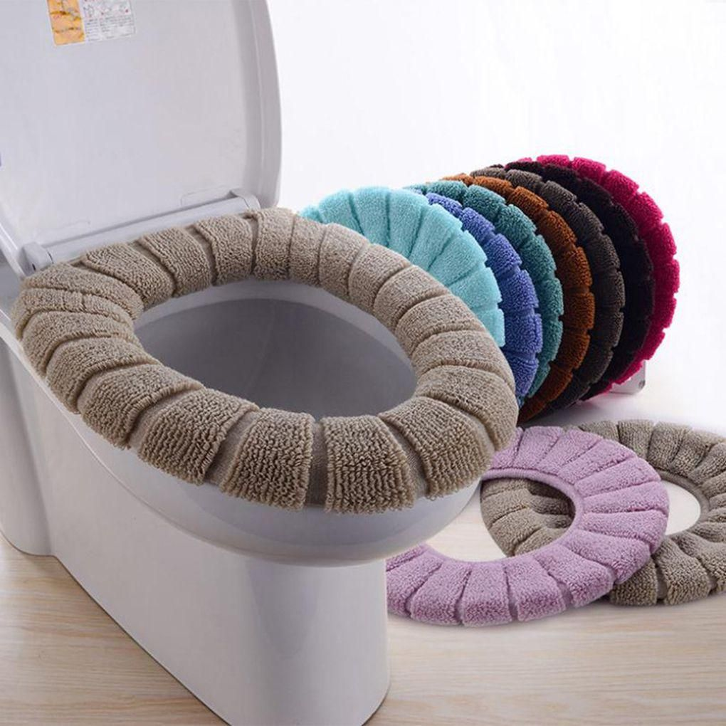 Soft Toilet Cushion Bathroom Toilet Seat Cover Random Color Washable Toilet Seat Cover Toilet Seat Seat Cover