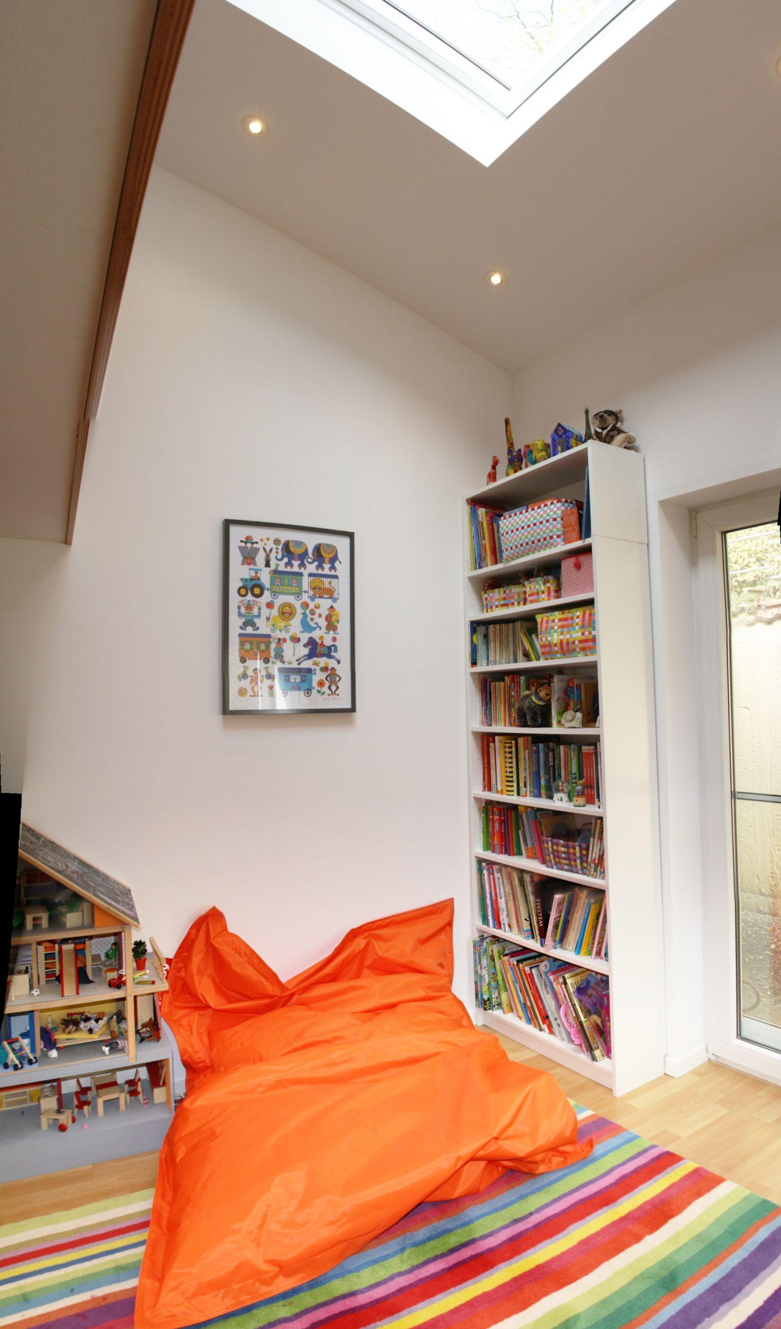 Leseecke Kinderzimmer umbau kinderzimmer einbau 2 ebene sitzsack leseecke