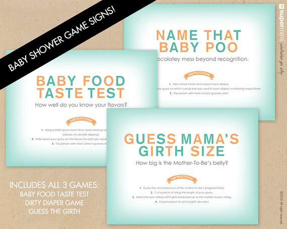 Perfect For All Baby Showers! Includes Popular Baby Shower Games Like The  Dirty Diaper Game