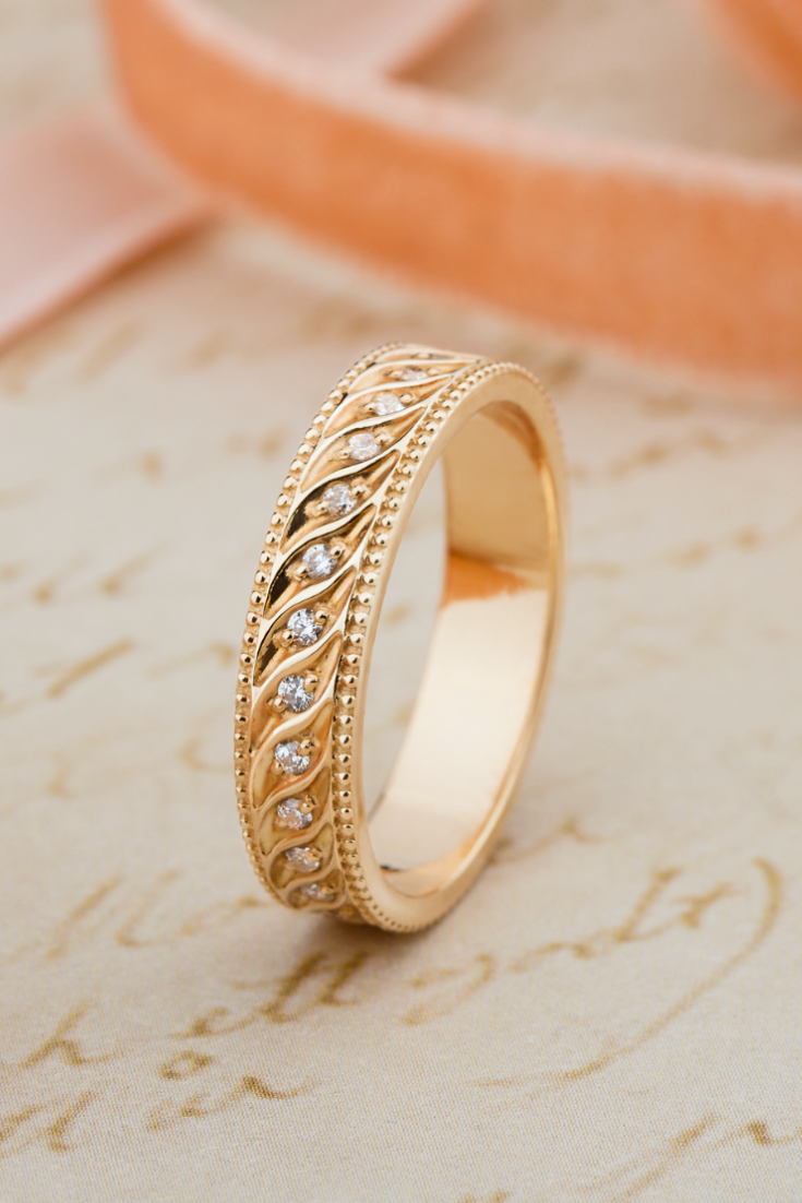 Unique Wedding Ring Gold Wedding Band Womens Wedding Bands Etsy Wedding Rings For Women Womens Wedding Bands Unusual Wedding Rings