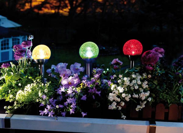 Solar Glas Kugelleuchte 3er Set Mit Stetigem Dezentem Farbwechsel Www Westfalia De