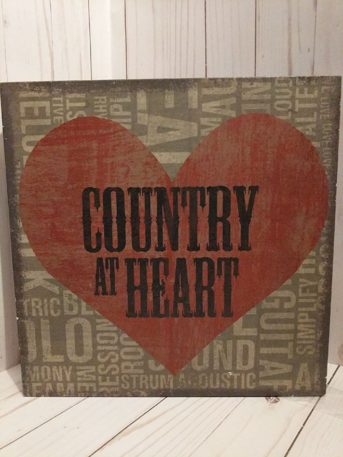 Country Decor Wood Sign