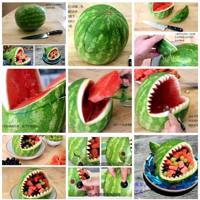 DIY watermelon #sharkweekfood