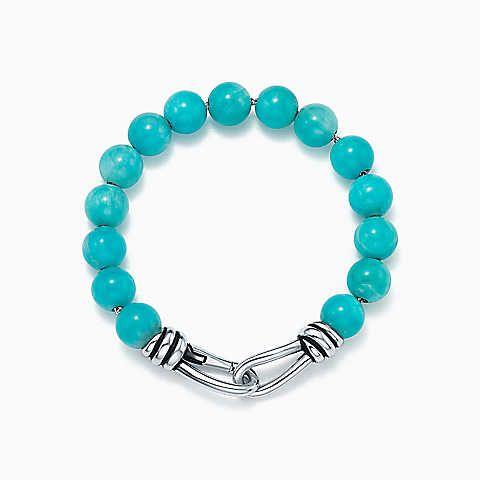 Paloma Picasso Knot bead bracelet in sterling silver with ox bead quartz - Size Medium Tiffany & Co. tyDC9W6xk