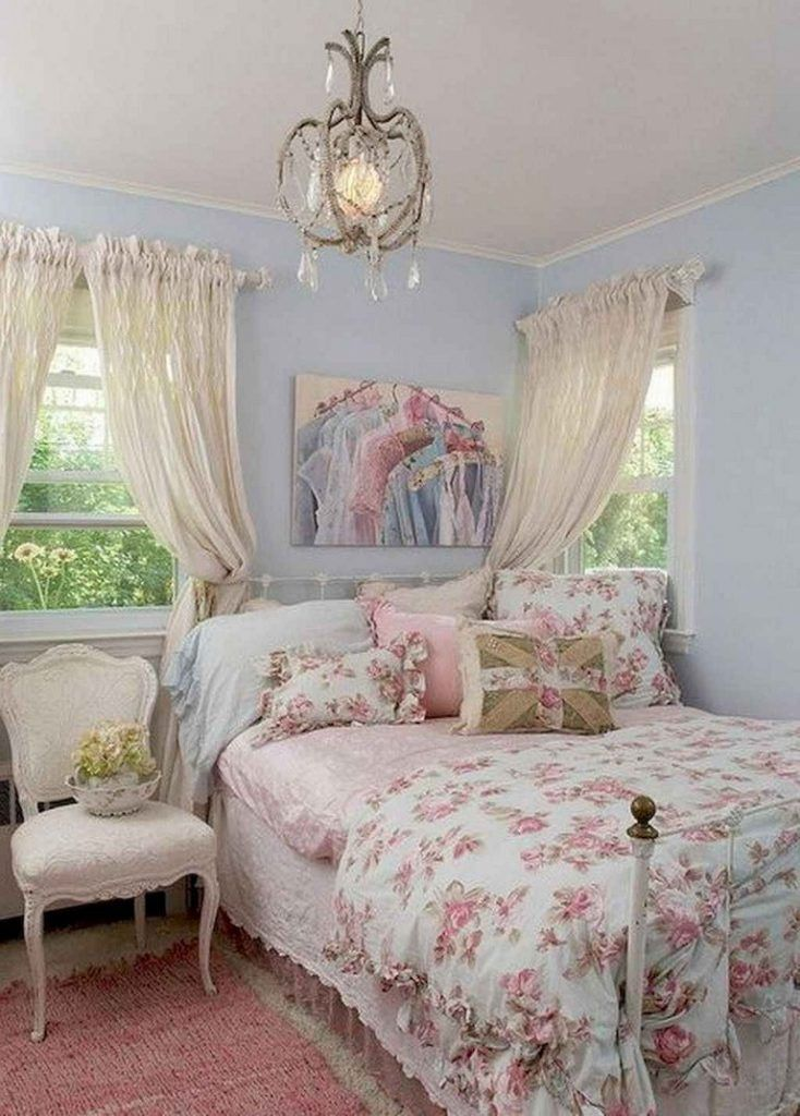 40+ Awesome Shabby Chic Bedroom Decorating Ideas