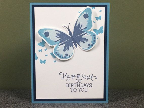 Stampin' Up Handmade Birthday Card by CheleMarieCreations on Etsy