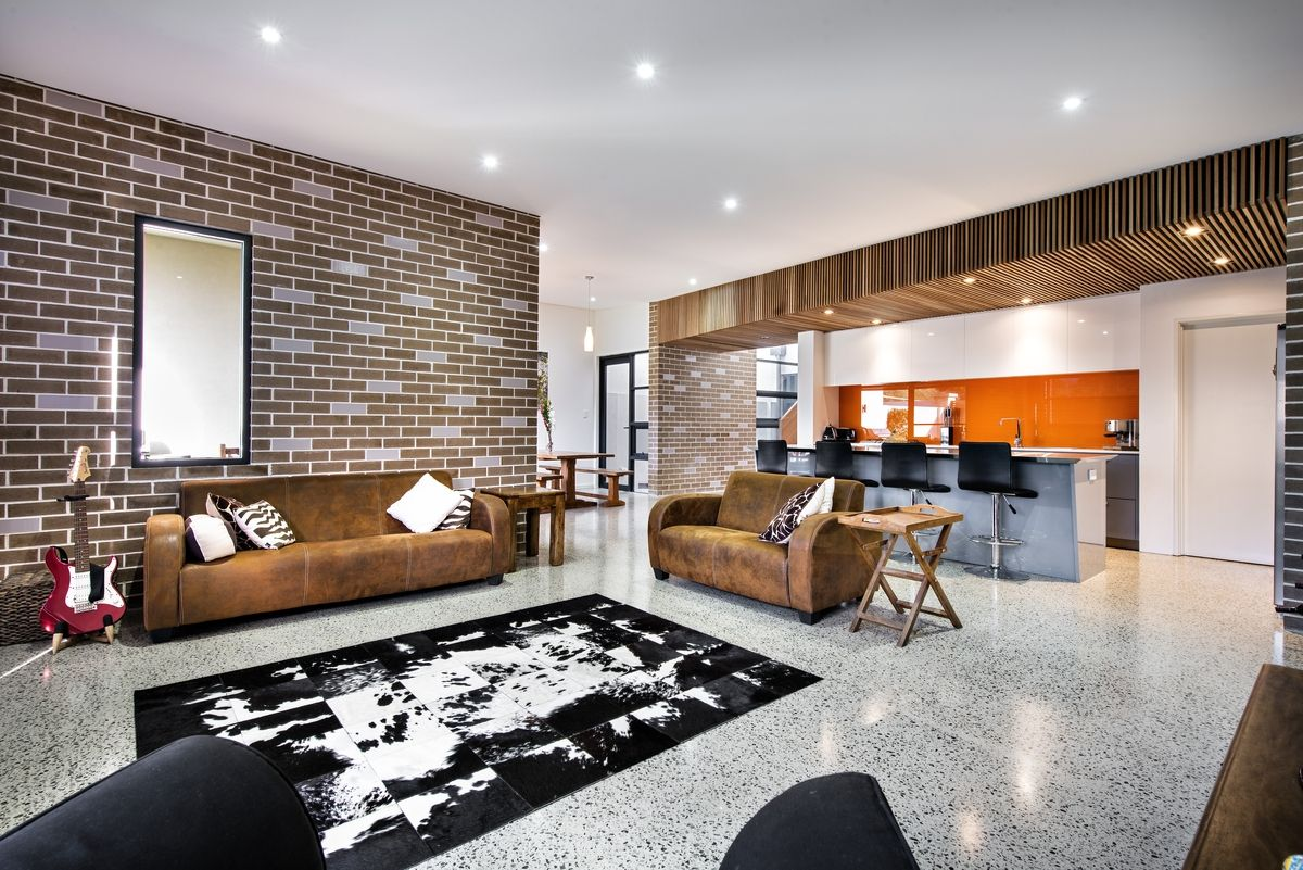 House Decorated In Brick Veneer Inside And Out