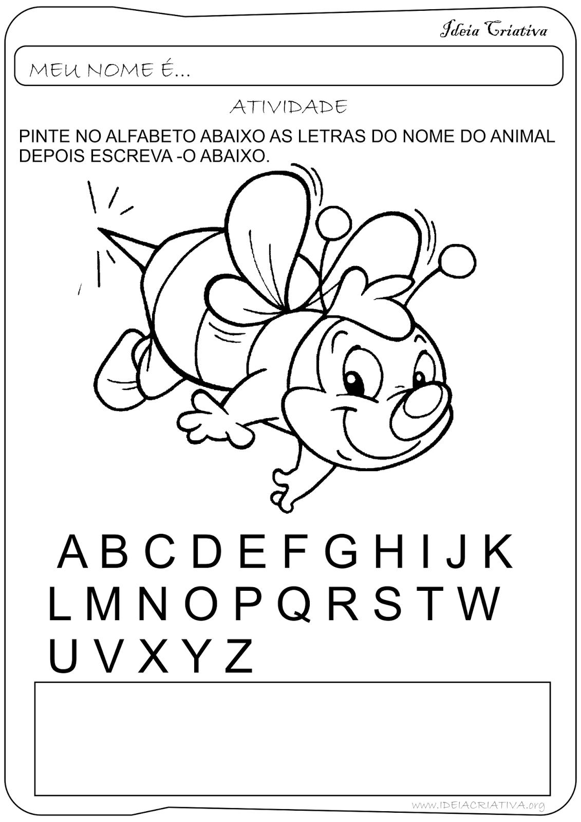 Suficiente Atividade Letras do Alfabeto Educação Infantil | 2017 sala de aula  NC07