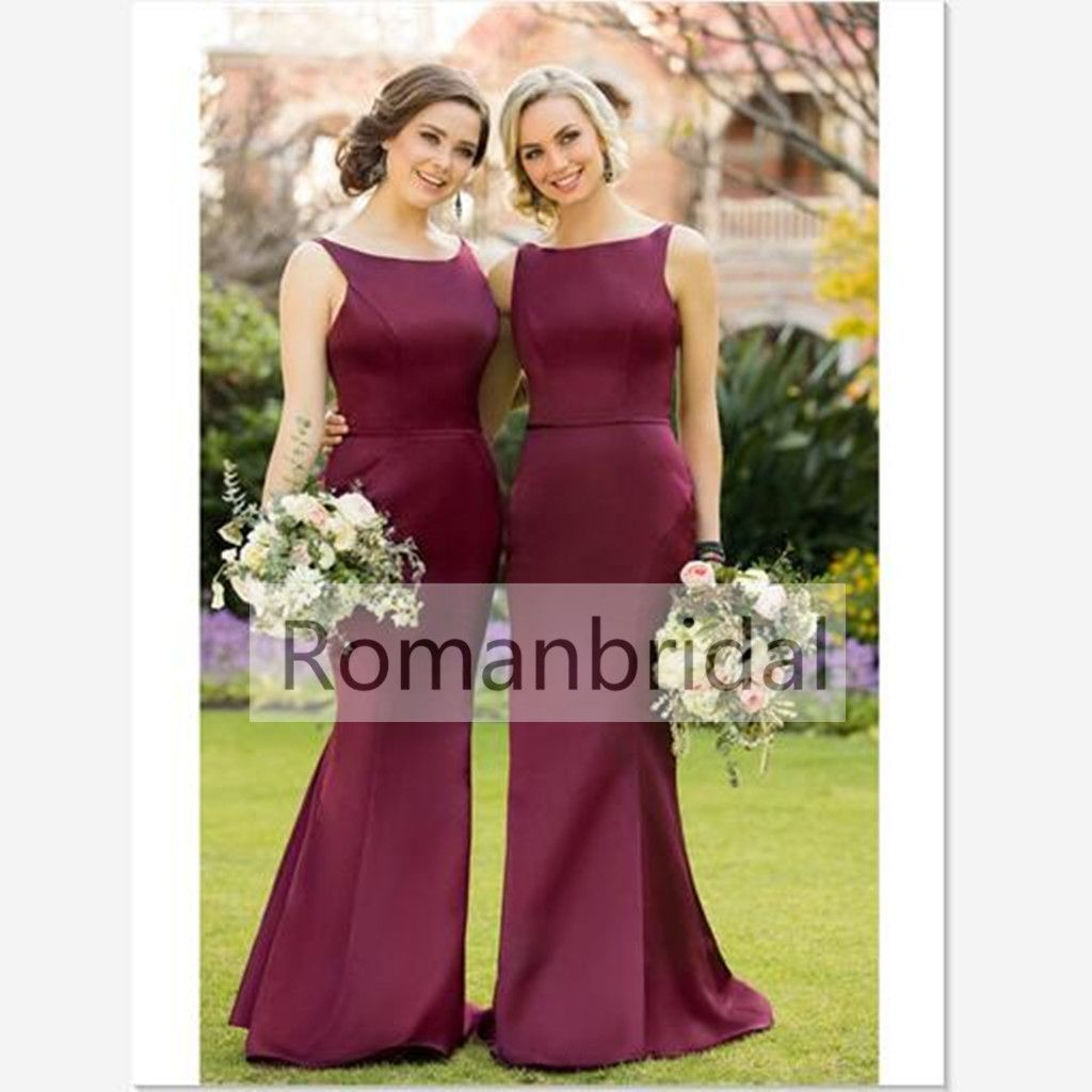 Prom dresses 2018 long fitted bridesmaid