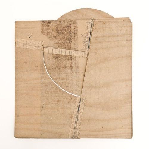 Lygia Clark, Bicho Pancubismo (study), 1963 Adhesive tape, Balsa wood, Graphite…