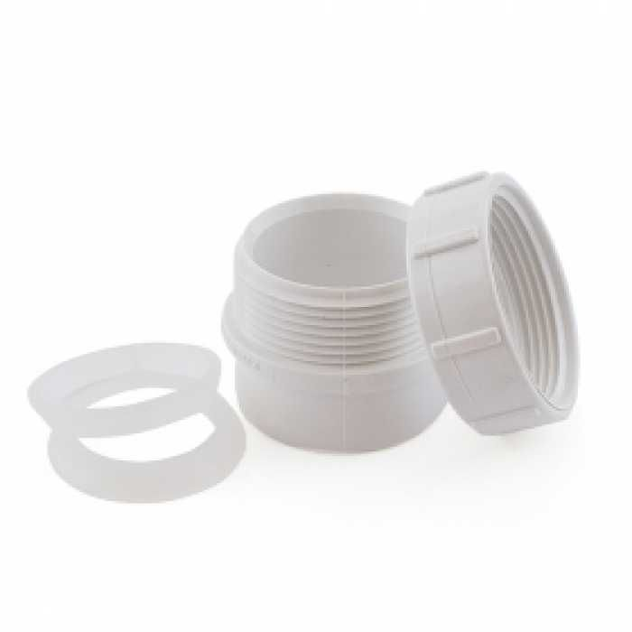 1 1 2 Pvc Dwv Male Trap Adapter W Plastic Nut Dwv Fittings Pvc Glassware