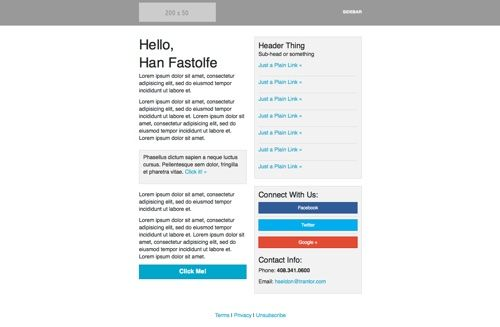 Email Template File Format Psd File Size  Mb Number Of Items