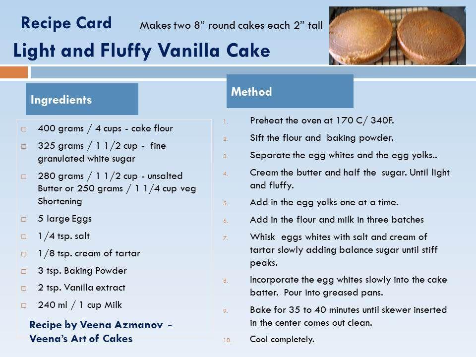 Vanilla Cake Recipe Cakes And More Pinterest Cake Cake