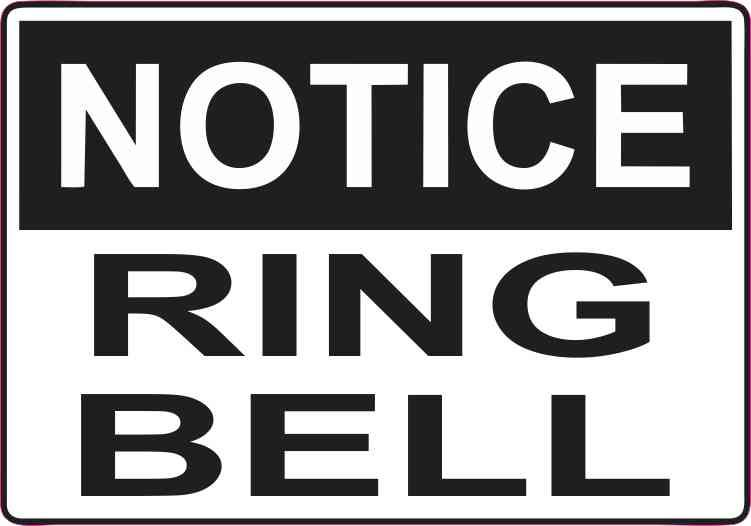 5in x 3 5in ring bell decal vinyl decals stickers sign business sticker