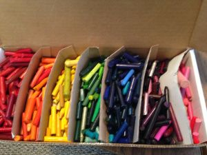 Recycling crayons for OCC